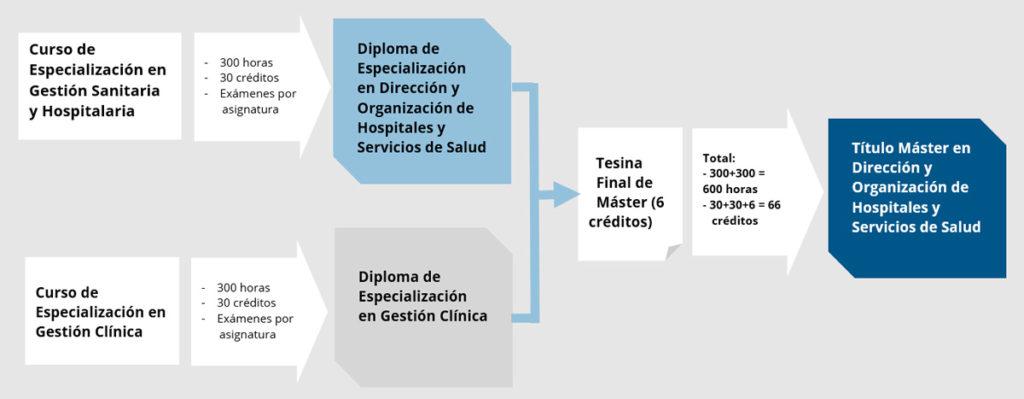 Diagrama Máster en Gestión Sanitaria y Hospitalaria