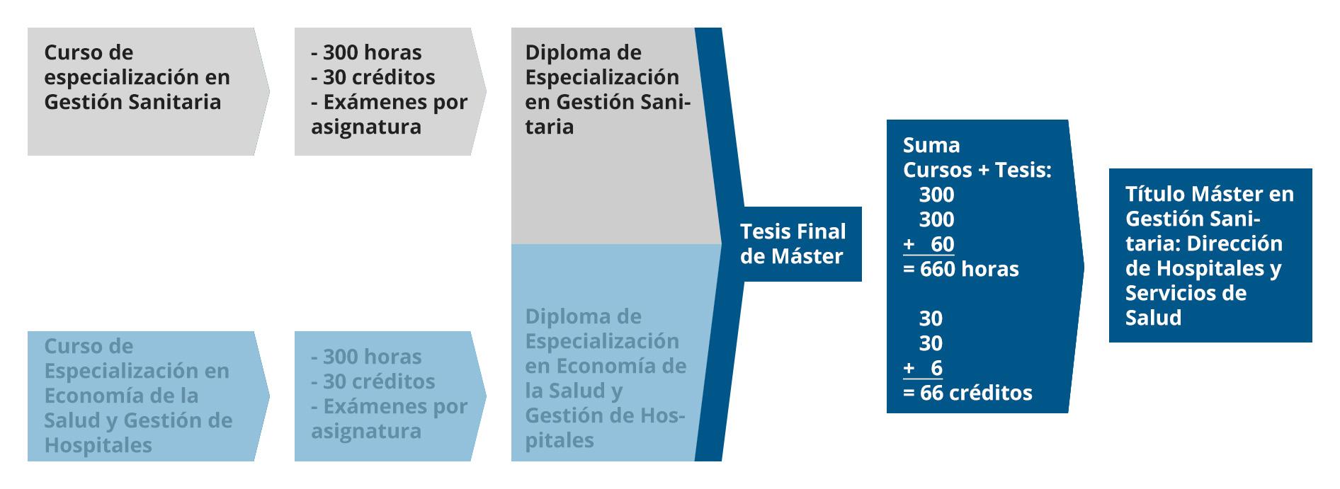 Diagrama Diploma de Especialización en Gestión Sanitaria